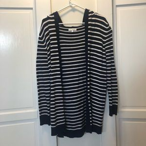 Honey Belle Navy and White Striped Cardigan